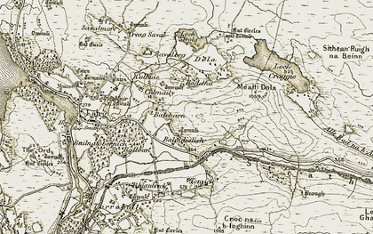 Old map of Balnadelson in 1910-1912