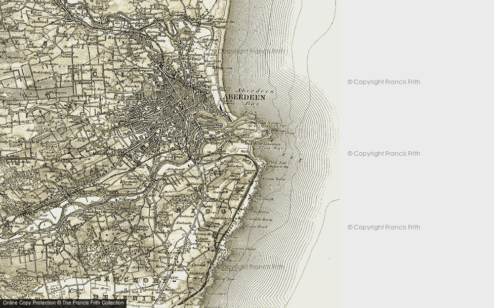 Old Map of Balnagask, 1908-1909 in 1908-1909
