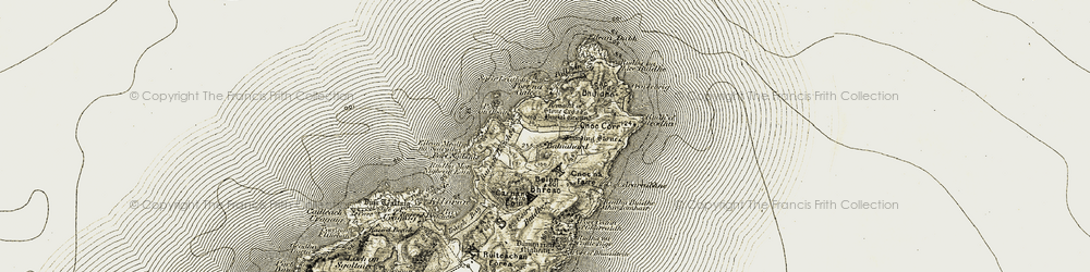 Old map of Leac Bhuidhe in 1906-1907