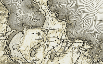 Old map of Balnakeil in 1910