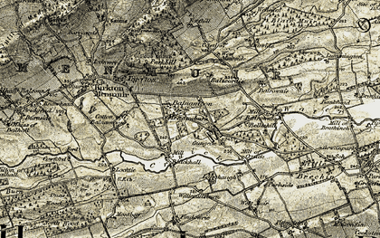 Old map of West Muirside in 1907-1908