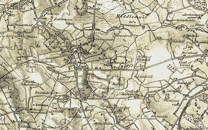 Old map of Whitehill Croft in 1909-1910