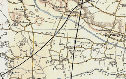 Old map of Balne Moor in 1903