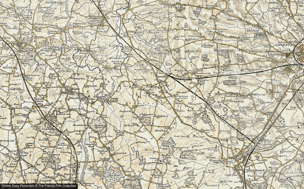 Old Map of Balsall, 1901-1902 in 1901-1902