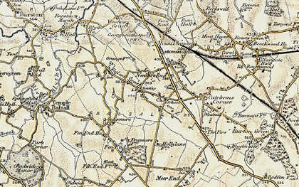 Old map of Balsall in 1901-1902