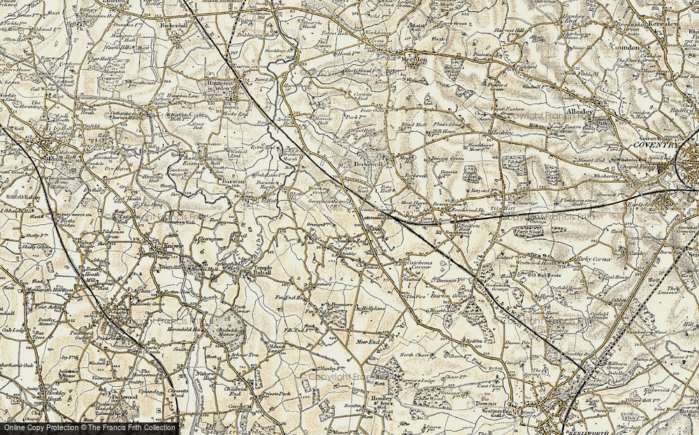 Old Map of Balsall Common, 1901-1902 in 1901-1902