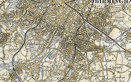 Old map of Balsall Heath in 1901-1902
