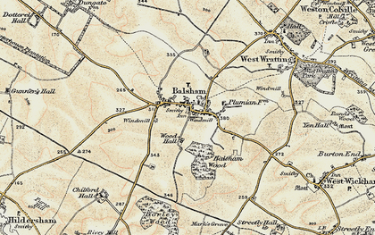 Old map of Wood Hall in 1899-1901