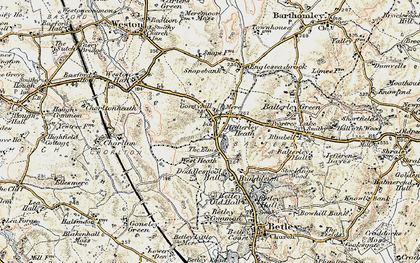 Old map of Balterley Heath in 1902