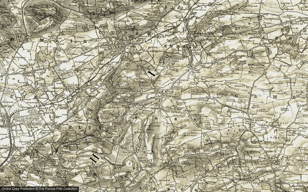 Old Map of Baltilly, 1906-1908 in 1906-1908