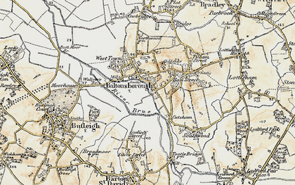 Old map of Baltonsborough in 1899