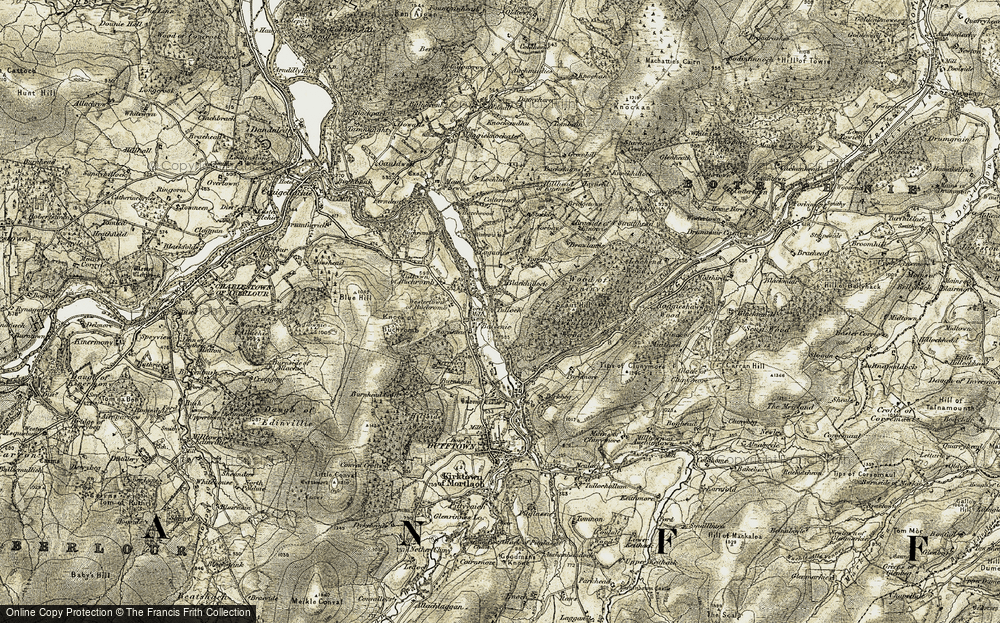 Old Map of Balvenie, 1908-1910 in 1908-1910