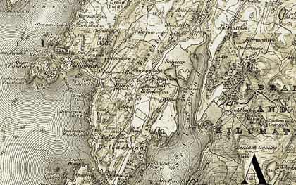 Old map of Acha in 1906-1907