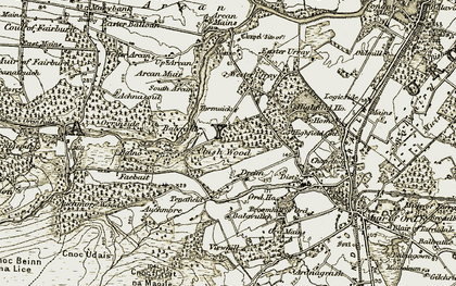 Old map of Wester Urray in 1912
