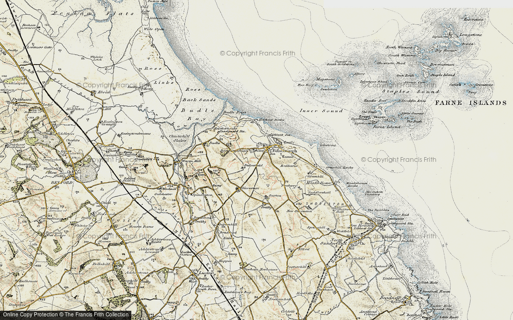 Old maps of bamburgh francis frith bamburgh 1901 1903 ordnance survey sciox Image collections