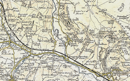 Old map of Bamford in 1902-1903