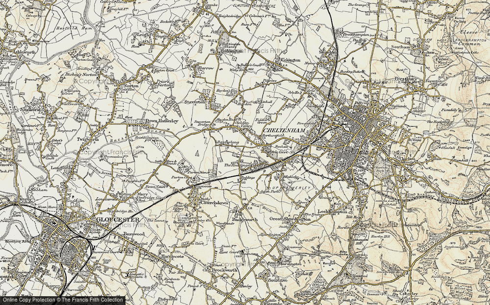 Old Map of Bamfurlong, 1898-1900 in 1898-1900
