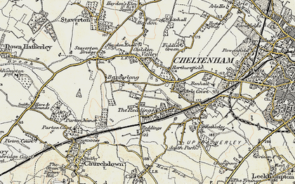 Old map of Bamfurlong in 1898-1900