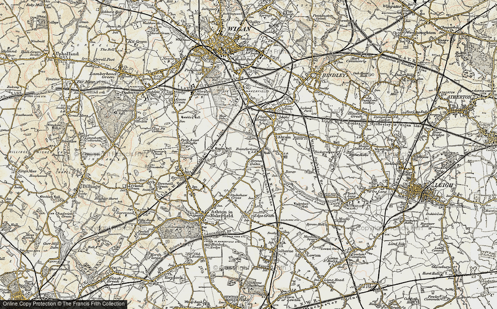 Old Map of Bamfurlong, 1903 in 1903