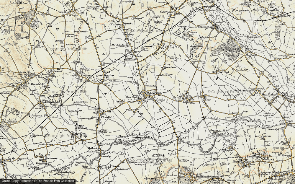 Old Map of Bampton, 1897-1899 in 1897-1899