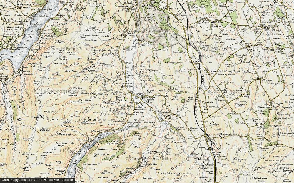 Old Map of Bampton Grange, 1901-1904 in 1901-1904