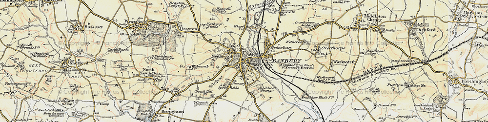Old map of Banbury in 1898-1901