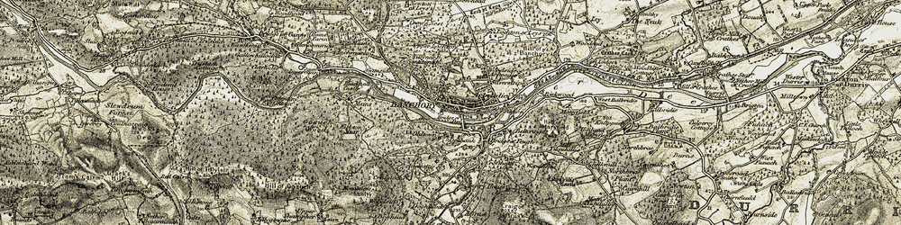 Old map of Tillynarb in 1908-1909