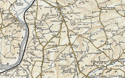 Old map of Bancycapel in 1901