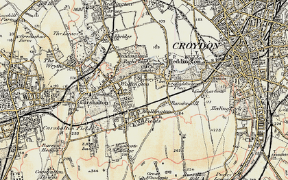 Old map of Bandonhill in 1897-1902
