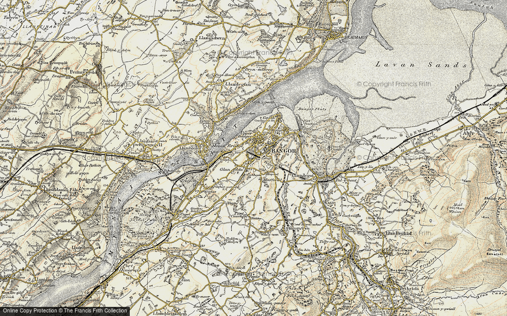 Old Map of Bangor, 1903-1910 in 1903-1910