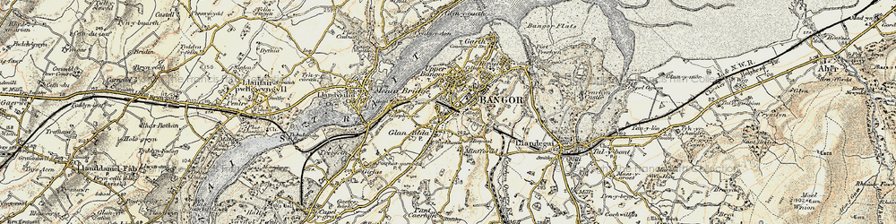 Old map of Bangor in 1903-1910
