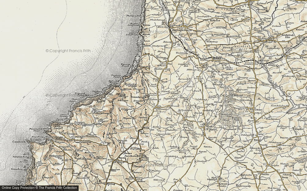 Old Map of Bangors, 1900 in 1900