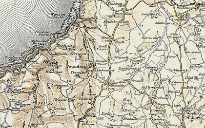 Old map of Bangors in 1900