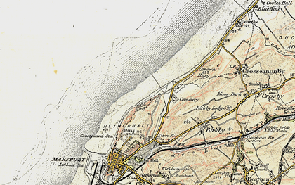 Old map of Bank End in 1901-1905