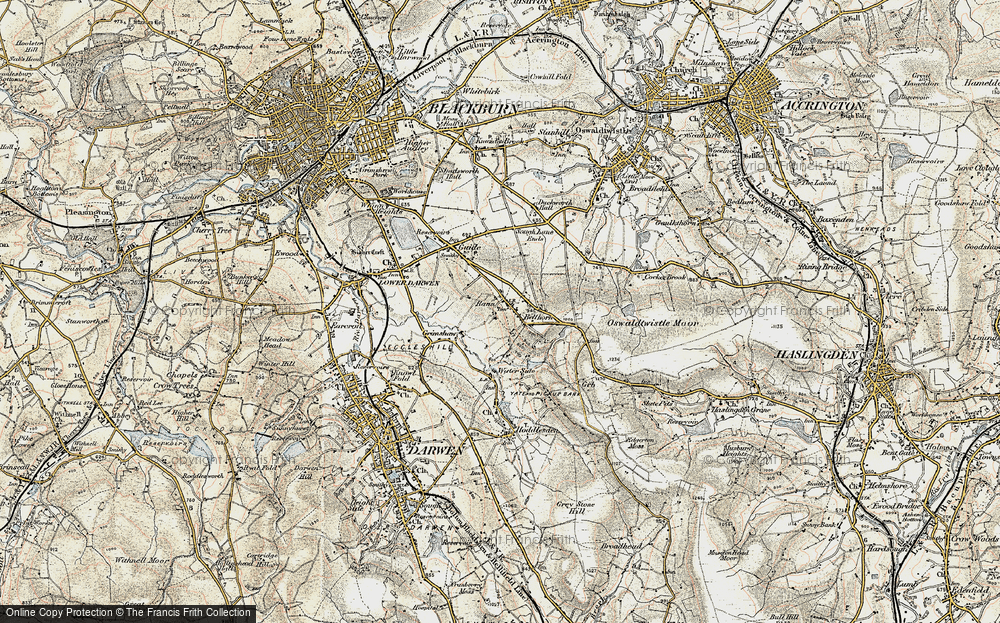 Old Map of Bank Fold, 1903 in 1903