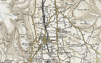 Old map of Bank Lane in 1903