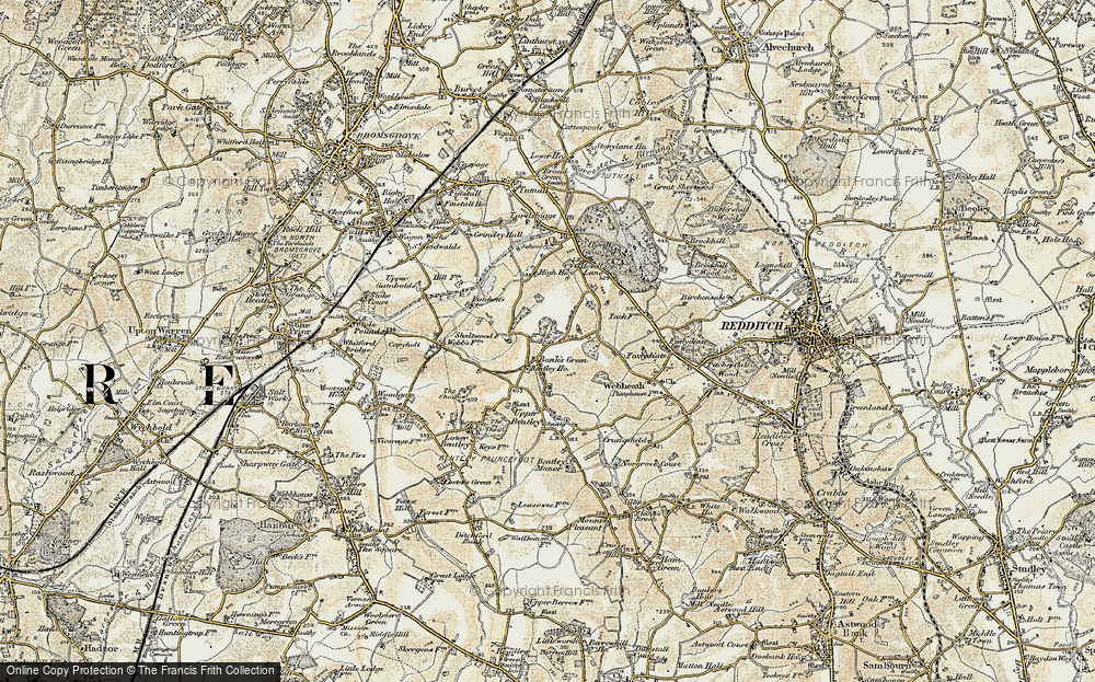 Old Map of Bank's Green, 1901-1902 in 1901-1902