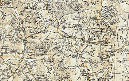 Old map of Bank Street in 1899-1902