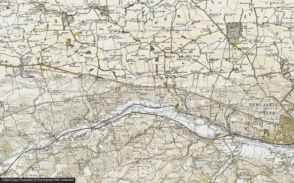 Old Map of Bank Top, 1901-1903 in 1901-1903