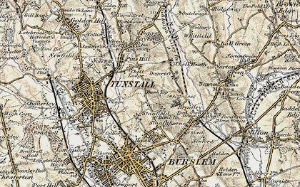 Old map of Bank Top in 1902