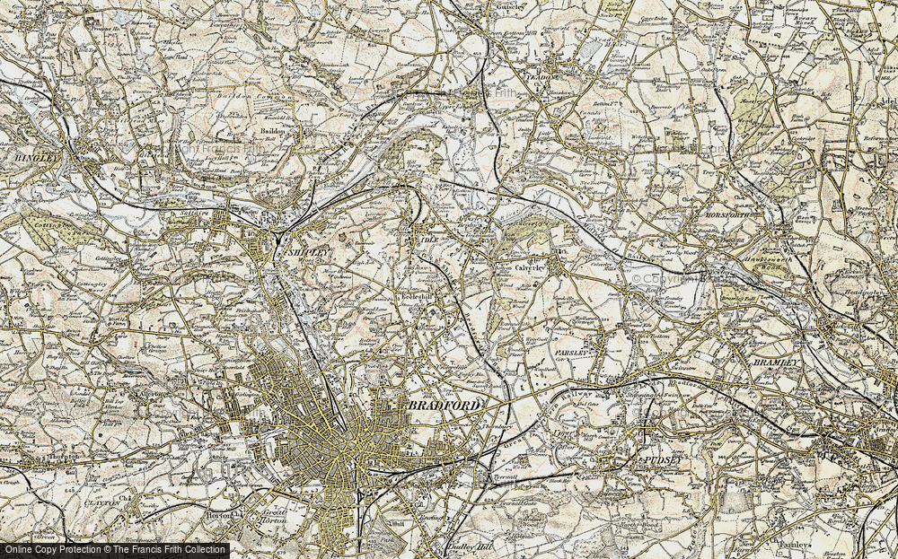 Old Map of Bank Top, 1903-1904 in 1903-1904