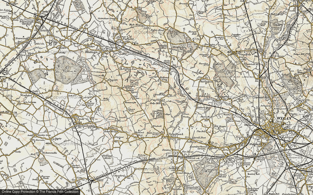 Old Map of Historic Map covering Ashurst's Beacon in 1903