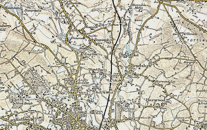 Old map of Bank Top in 1903