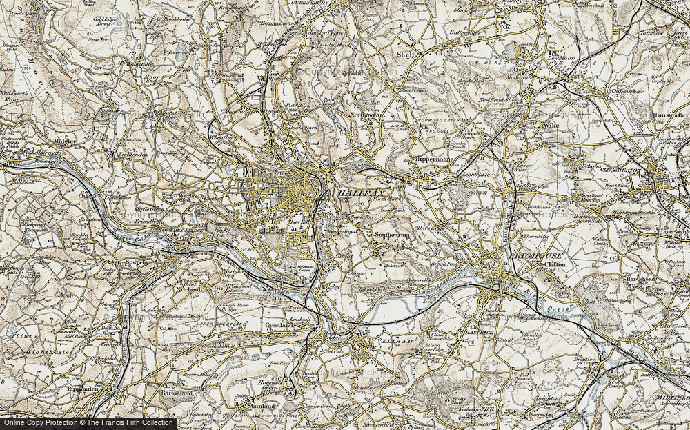 Old Map of Bank Top, 1903 in 1903
