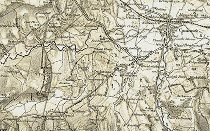 Old map of Bankglen in 1904-1905