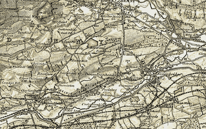 Old map of Bankhead in 1904-1907