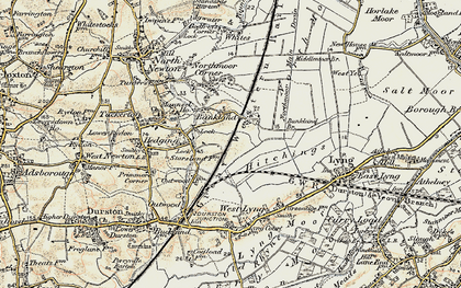 Old map of Bankland in 1898-1900