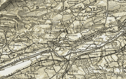 Old map of Banknock in 1904-1907