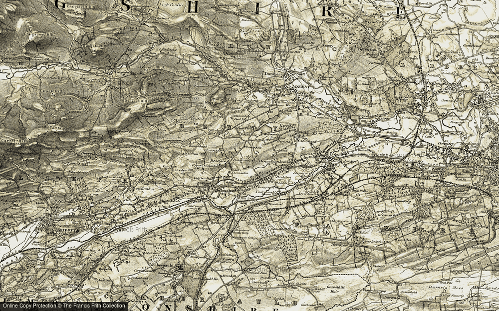 Old Map of Banknock, 1904-1907 in 1904-1907