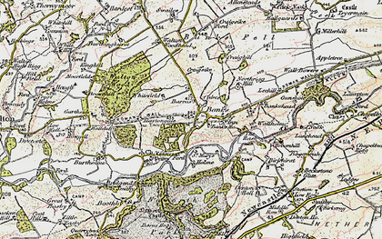 Old map of Allensteads in 1901-1904